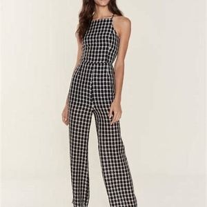 Finders Keepers   Strappy Plaid Jumpsuit   XS